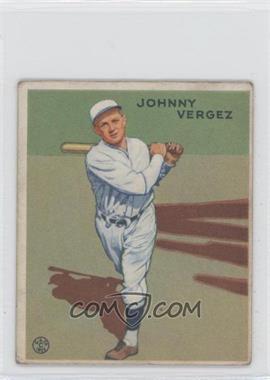 1933 Goudey Big League Chewing Gum - R319 #233 - Johnny Vergez [GoodtoVG‑EX]