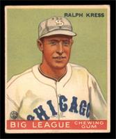 Ralph Kress Baseball Cards Matching Baseball 1933 Goudey