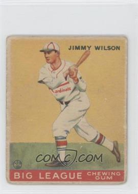 1933 Goudey Big League Chewing Gum - R319 #37 - Jimmy Wilson
