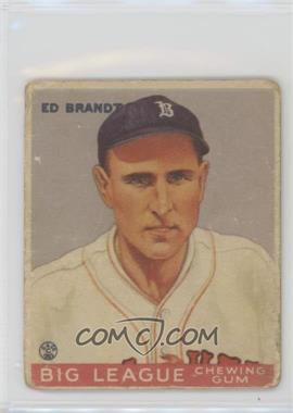 1933 Goudey Big League Chewing Gum - R319 #50 - Ed Brandt [Good to VG‑EX]
