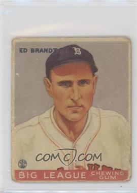 1933 Goudey Big League Chewing Gum - R319 #50 - Ed Brandt [GoodtoVG‑EX]