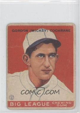 1933 Goudey Big League Chewing Gum - R319 #76 - Mickey Cochrane