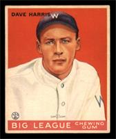 Dave Harris Baseball Cards Matching Baseball 1933 Goudey