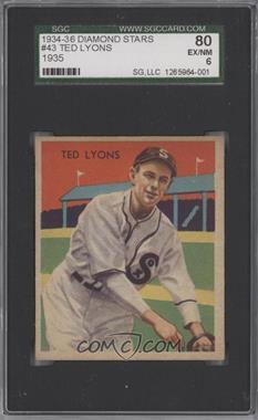 1934-36 National Chicle Diamond Stars - R327 #43 - Ted Lyons [SGC80]
