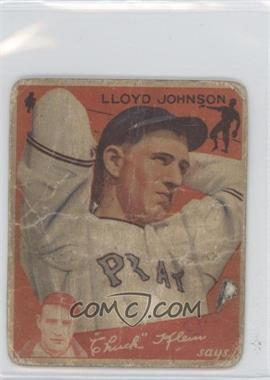 1934 Goudey Big League Chewing Gum - R320 #86 - Lloyd Johnson