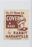 How to Cover a Base (Rabbit Maranville) [GoodtoVG‑EX]