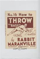 How to Throw to Bases (Rabbit Maranville) [GoodtoVG‑EX]