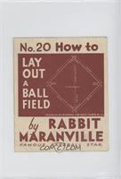 How to Lay Out a Ball Field (Rabbit Maranville) [GoodtoVG‑EX]