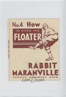 How to Pitch the Floater (Rabbit Maranville) [GoodtoVG‑EX]