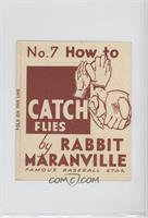 How to Catch Flies (Rabbit Maranville)