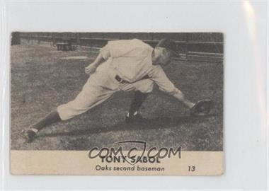 1946 Remar Baking Oakland Oaks - [Base] #13 - Tony Sabol