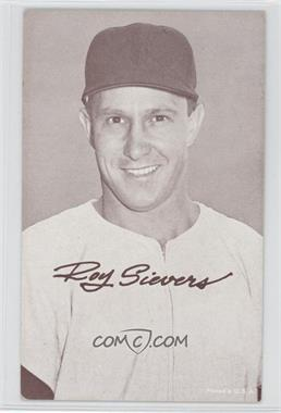 1947-66 Exhibits - W461 #ROSI.2 - Roy Sievers (Airbrushed Cap)