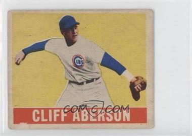 1948 Leaf - [Base] #136.1 - Cliff Aberson (Glove Hand Short Sleeve) [GoodtoVG‑EX]