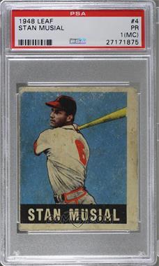 1948 Leaf Base 4 Stan Musial Psa 1 Pr Mc