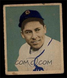 1949 Bowman - [Base] - Gray Backs #107 - Eddie Lake [GOOD]