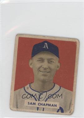 1949 Bowman - [Base] - Gray Backs #112 - Sam Chapman [GoodtoVG‑EX]