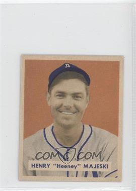 "1949 Bowman - [Base] - Gray Backs #127.1 - Henry ""Heeney"" Majeski (Name in Script on Back)"