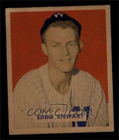 1949 Bowman - [Base] - Gray Backs #173 - Eddie Stewart [EX]