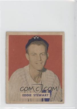 1949 Bowman - [Base] - Gray Backs #173 - Eddie Stewart [GoodtoVG‑EX]
