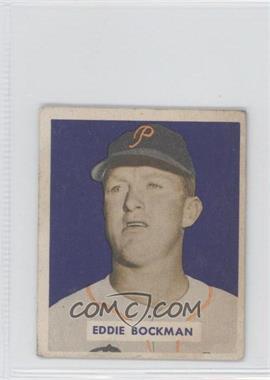 1949 Bowman - [Base] - Gray Backs #195 - Eddie Bockman [GoodtoVG‑EX]