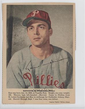 1950 Philadelphia Inquirer Fightin' Phillies Album - [Base] #KEJO - Ken Johnson