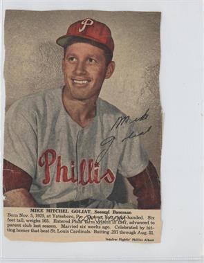 1950 Philadelphia Inquirer Fightin' Phillies Album - [Base] #MIGO - Mike Goliat