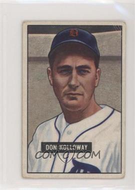 1951 Bowman - [Base] #105 - Don Kolloway [PoortoFair]