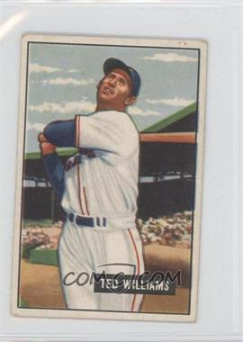 1951 Bowman - [Base] #165 - Ted Williams [GoodtoVG‑EX]