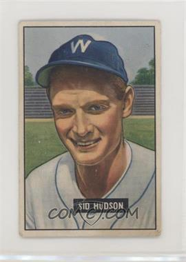 1951 Bowman - [Base] #169 - Sid Hudson [Poor]