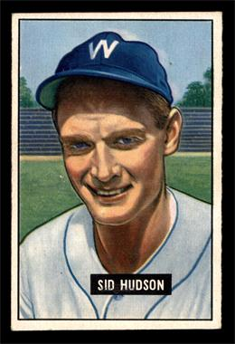 1951 Bowman - [Base] #169 - Sid Hudson [EXMT]