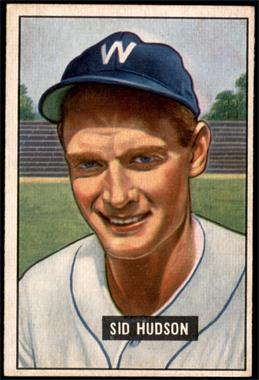 1951 Bowman - [Base] #169 - Sid Hudson [EX]