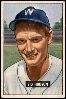 1951 Bowman - [Base] #169 - Sid Hudson [VG+]