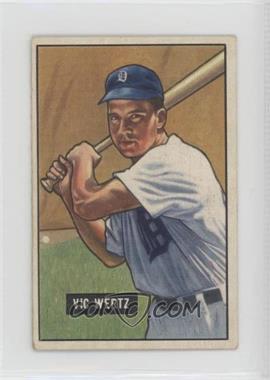 1951 Bowman - [Base] #176 - Vic Wertz [GoodtoVG‑EX]