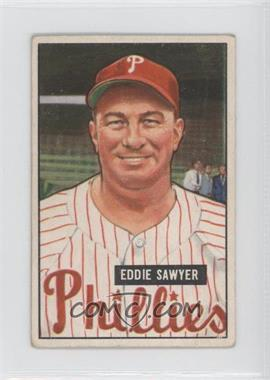 1951 Bowman - [Base] #184 - Eddie Sawyer [GoodtoVG‑EX]