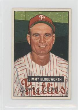 1951 Bowman - [Base] #185 - Jimmy Bloodworth [Good to VG‑EX]