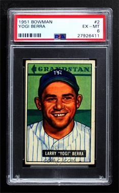 1951 Bowman - [Base] #2 - Yogi Berra [PSA6EX‑MT]