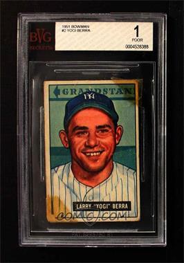 1951 Bowman - [Base] #2 - Yogi Berra [BVG1POOR]