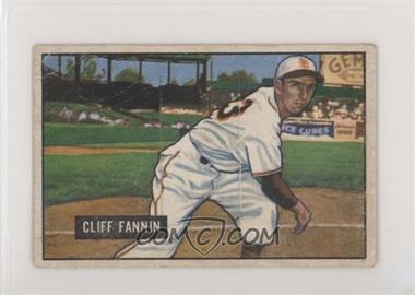 1951 Bowman - [Base] #244 - Cliff Fannin [PoortoFair]