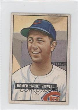 1951 Bowman - [Base] #252 - Homer 'Dixie' Howell [GoodtoVG‑EX]