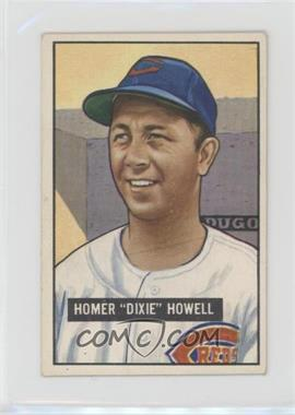 1951 Bowman - [Base] #252 - Homer 'Dixie' Howell [Good to VG‑EX]