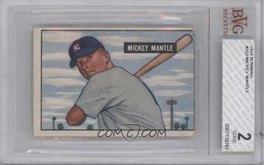1951 Bowman - [Base] #253 - Mickey Mantle [BVG 2]