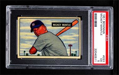 1951 Bowman - [Base] #253 - Mickey Mantle [PSA5EX]