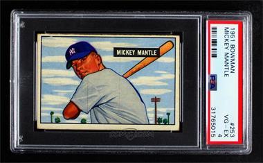 1951 Bowman - [Base] #253 - Mickey Mantle [PSA4VG‑EX]