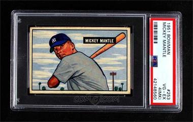 1951 Bowman - [Base] #253 - Mickey Mantle [PSA2.5GOOD+]