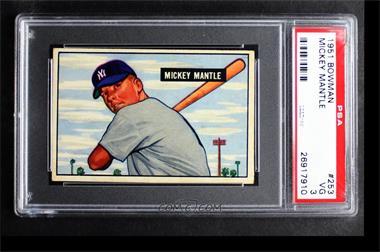 1951 Bowman - [Base] #253 - Mickey Mantle [PSA3VG]