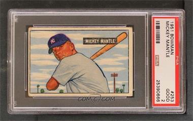 1951 Bowman - [Base] #253 - Mickey Mantle [PSA2GOOD]