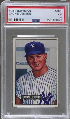 1951 Bowman - [Base] #254 - Jackie Jensen [PSA3VG]