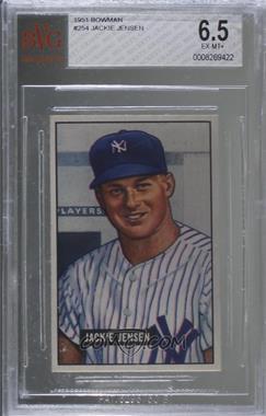 1951 Bowman - [Base] #254 - Jackie Jensen [BVG6.5EX‑MT+]