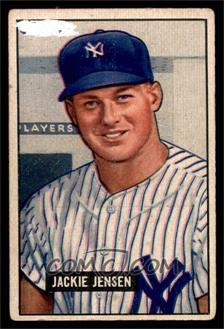 1951 Bowman - [Base] #254 - Jackie Jensen [FAIR]