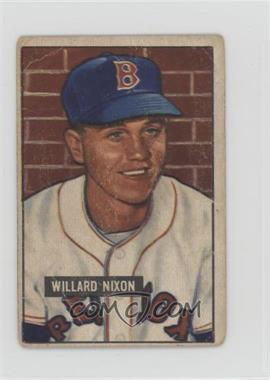 1951 Bowman - [Base] #270 - Willard Nixon [Poor]